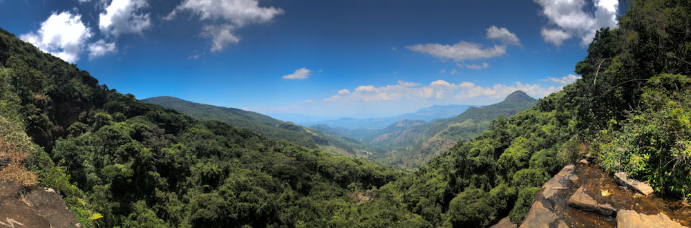 Panoramic Views of Hill Country in Sri Lanka